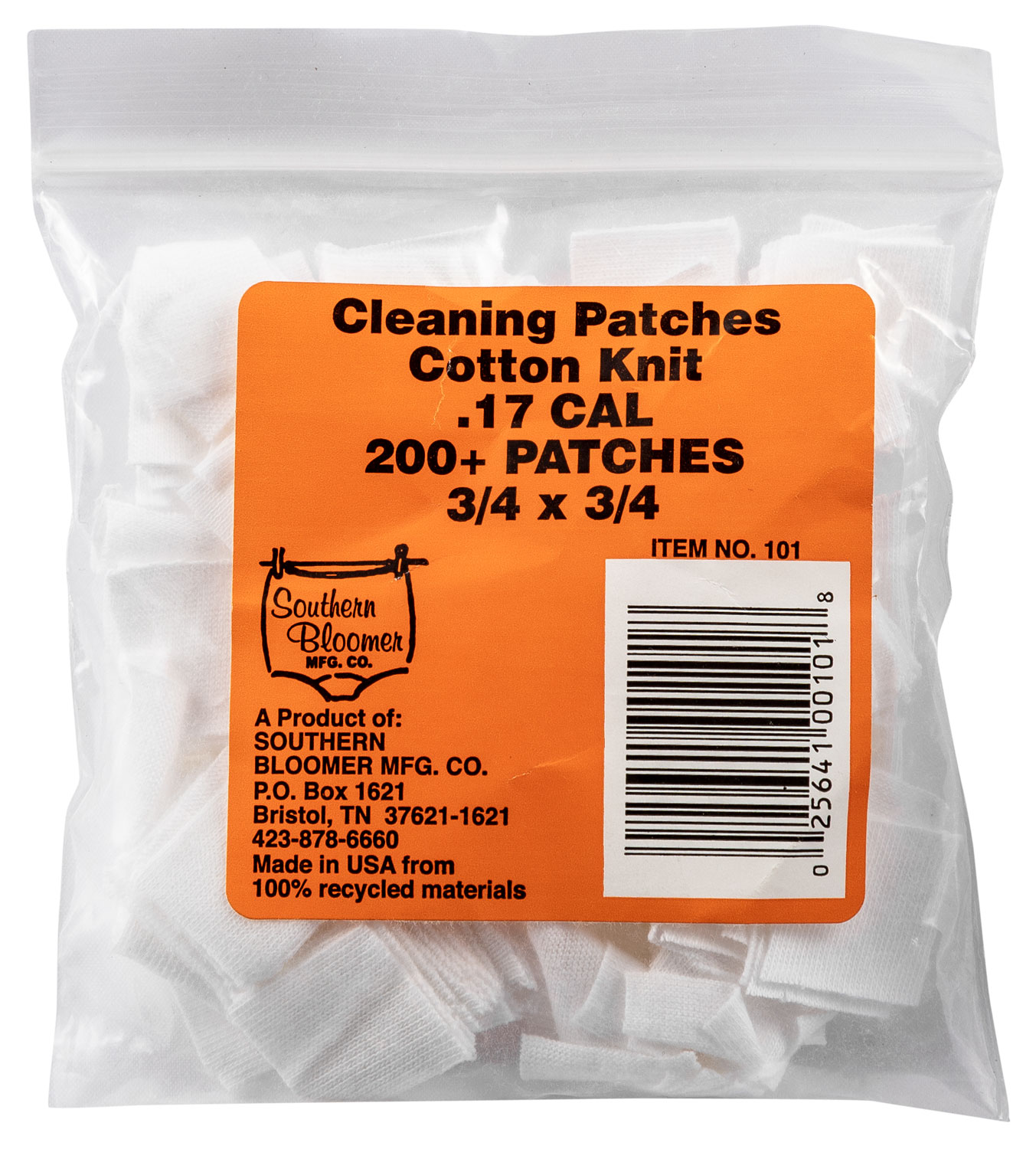 SBC 1021 45 CAL PATCHES    100 PER BAG