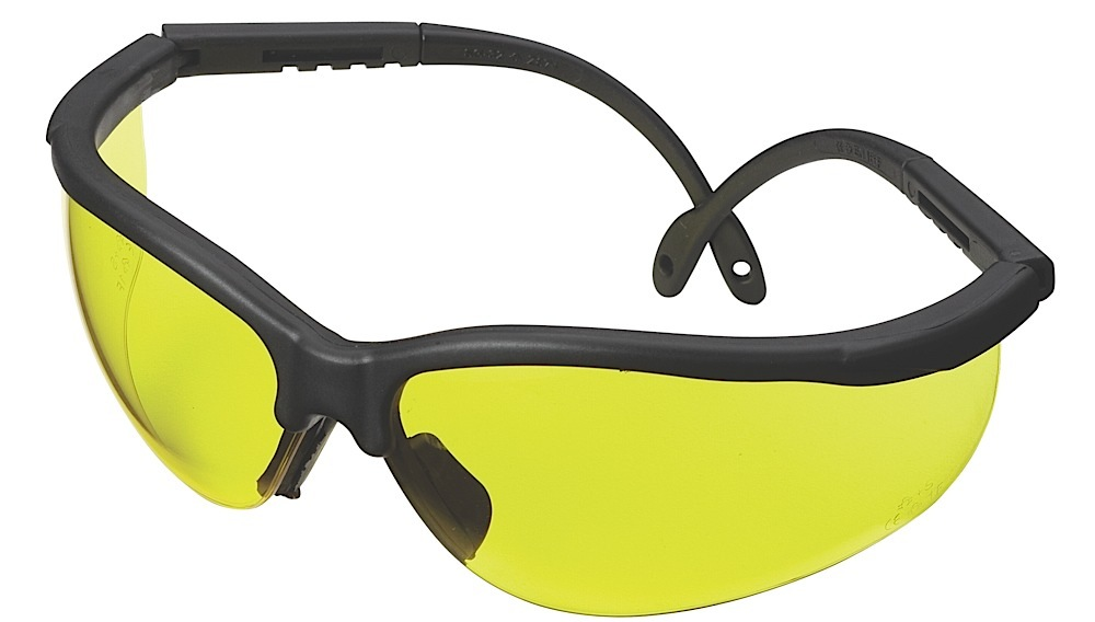 CHAMP 40610 SHOOTING GLASSES BLK/YLW