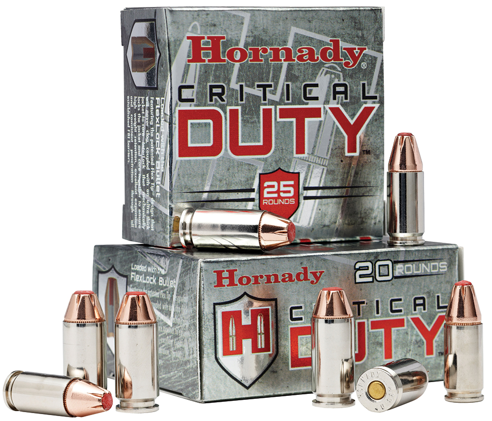 HORNADY CRITICAL DUTY 40SW FLEXLOCK 175 GRAIN 20 ROUNDS/BOX 91376